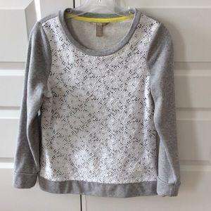 BANANA REPUBLIC Lace Front Sweatshirt